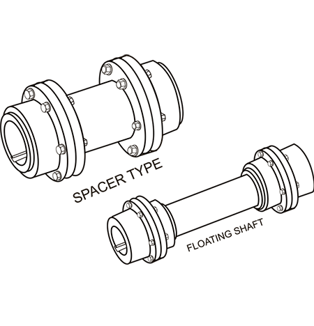 Spacer type - Gear Coupling